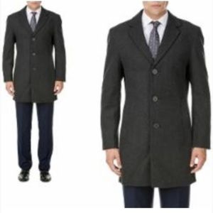 Braveman Men's Wool-Blend Single Breasted Coat